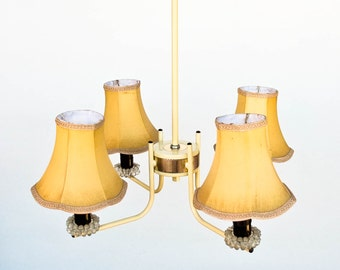 Midcentury Ceiling Lamp / Four Arm Chandelier / Pendant Light / 50's