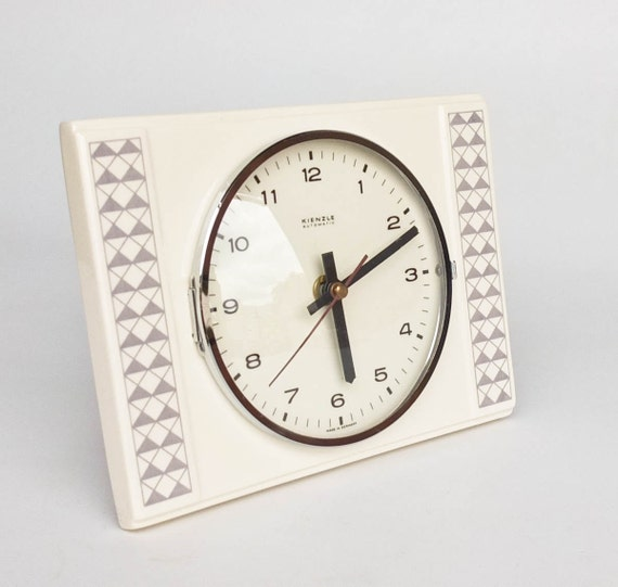 vintage ceramic wall clock by kienzle 70 39 s by