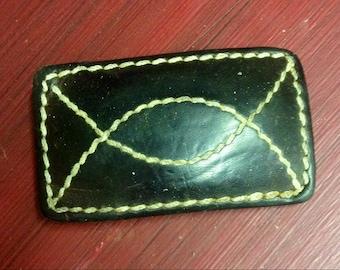 Vintage leather belt buckle