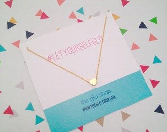 Tiny Heart Charm Necklace