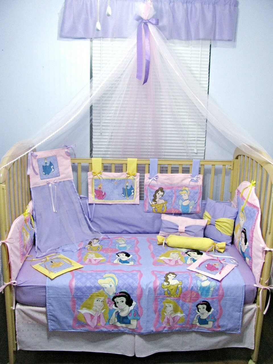 Princess Cinderella Snow Aurora Belle 14 Piece Baby Bedding