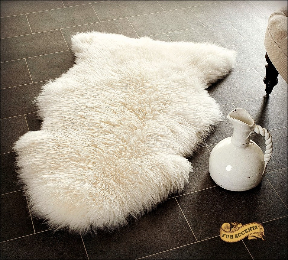 FUR ACCENTS Shaggy Sheepskin Rug Premium Faux Fur By
