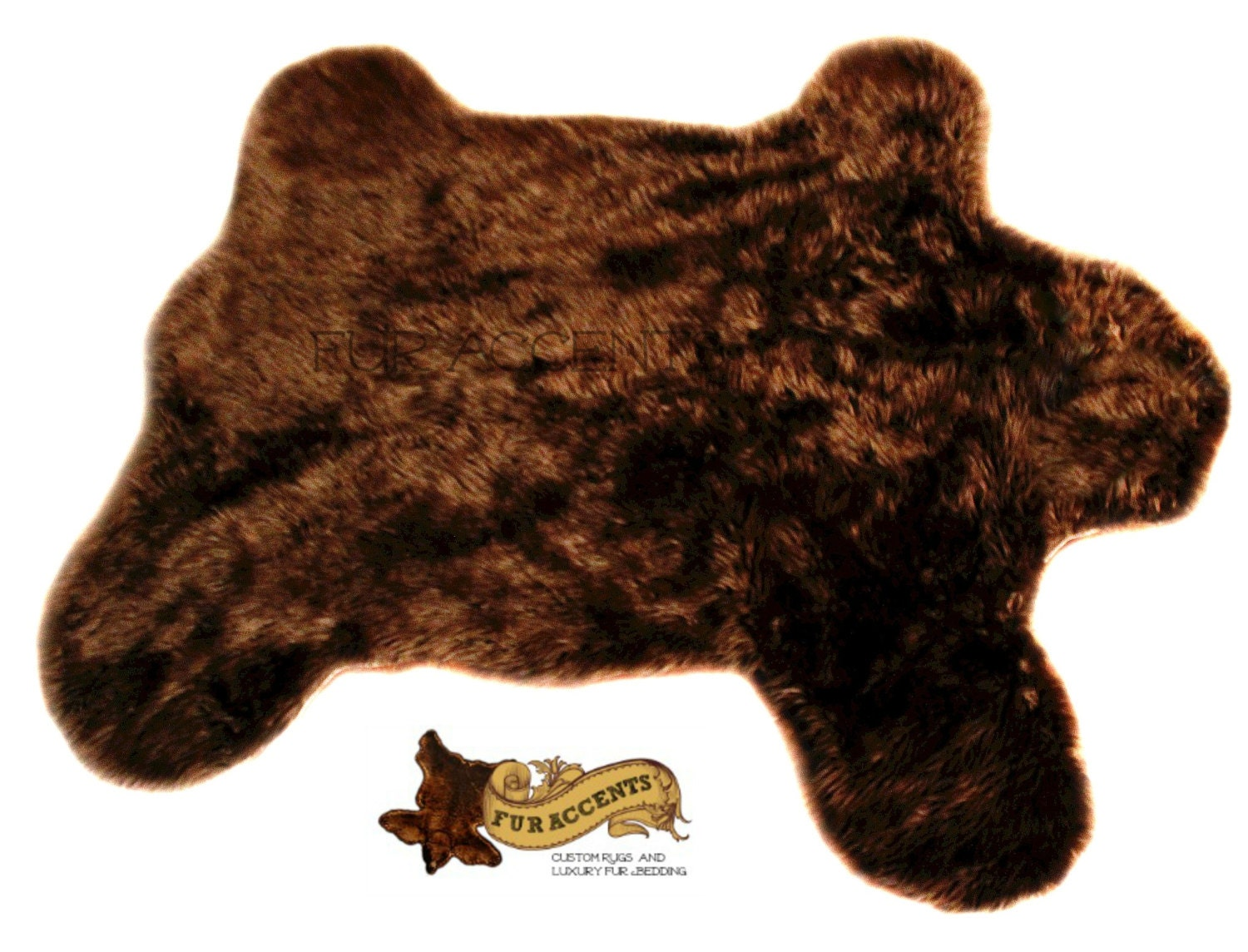 fur accents faux fur teddy bear skin area rug by furaccents. Black Bedroom Furniture Sets. Home Design Ideas