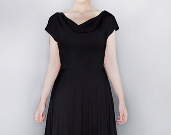 D.E.M.Y black jersey dress