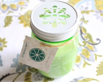 Lime Citronella Outdoor Candle