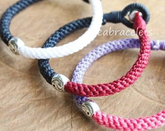 Men Women Yin Yang Chinese Balance Handmade Bracelets, Chinese symbol bracelet, Birthday Gift, Friendship jewelry - Black & Red