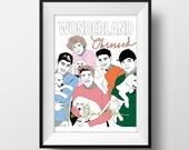 One Direction Wonderland Magazine Cover - Graphic Illustration A4 - Art Print