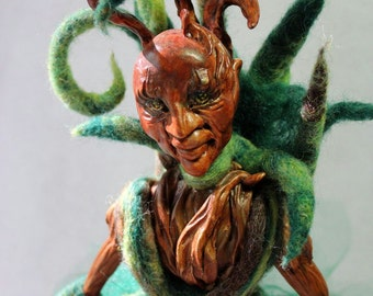 Entwife, Art Doll, Lord of the Rings, OOAK, needle felt, polymer clay