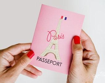 Paris Passport Invitation, Rendez-vous de Paris, Ooh la la, Paris Party, Paris Baby Shower, French Party, Parisienne, Paris Bridal Shower