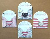 Love Notes - Mini Love Notes - I Love You Cards - Small Card and Envelope /LN-11