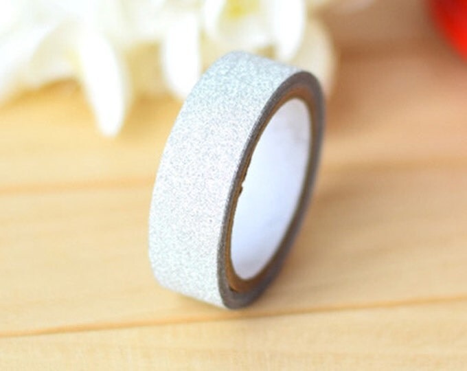 Silver Glitter Washi Tape (5m)