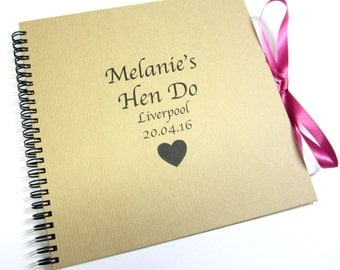 Personalised Hen Do Scrapbook, Photo Album, Bachelorette Party, Guestbook, Gift