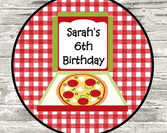 Pizza Party Cupcake Topper Favor Tag Digital Printable
