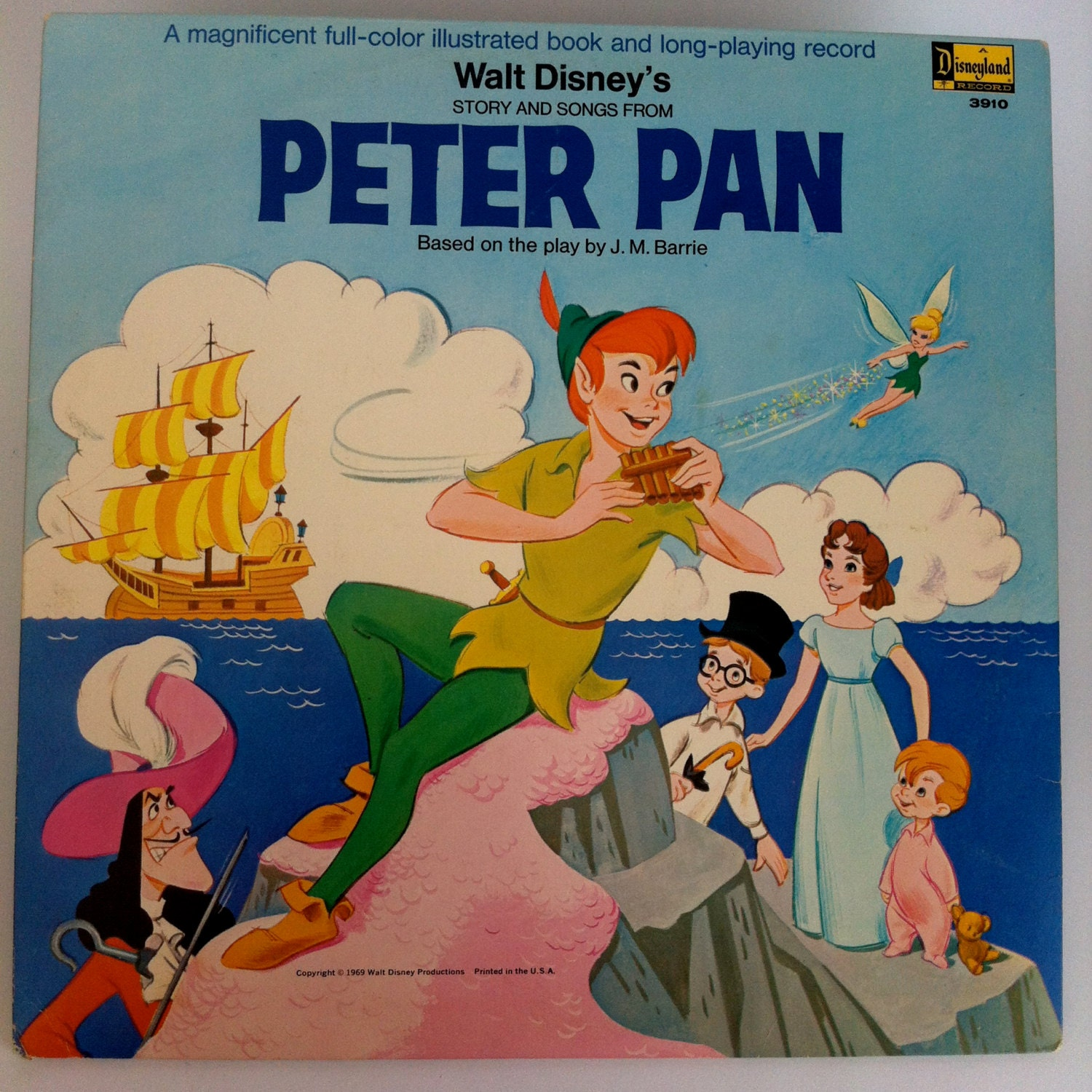 Walt Disney S Peter Pan Story And Songs By Vintagebaronrecords