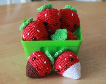 Strawberry (white chocolate covered) - Keychain