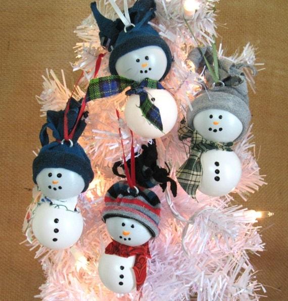 Decorate Christmas Tree Like Snowman: Ping Pong Snowman Christmas Tree Ornament Tree Decor Country