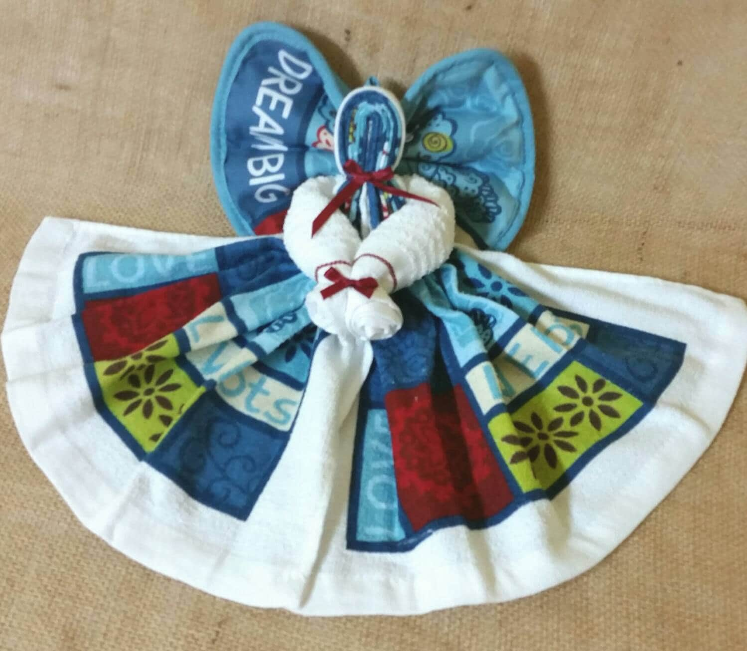Country Kitchen Angel Decor Dish Towel Angel Country/Rustic