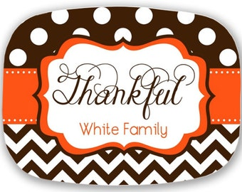Personalized Melamine Platter - Thanksgiving tray