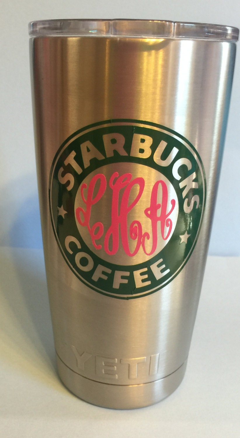 Starbucks Inspired Personalized Yeti Tumbler With Monogram Or