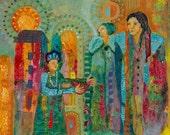 Offerings To The Ancestors, sacred healing through generations. Priestess path. http://www.judithbirdart.com/