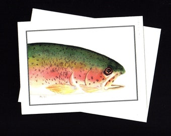 Rainbow Trout- Blank Note Cards