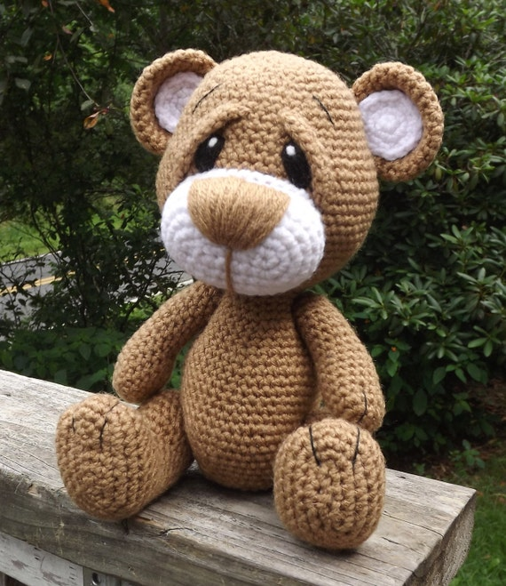 Little Brown Teddy Bear Amigurumi Crochet Pattern PDF. PDF