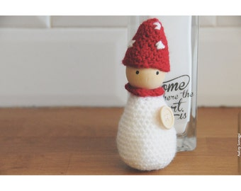 Bonhanimaux amigurumi crochet mushroom