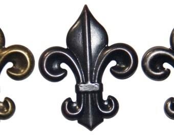 """25 Small Fleur De Lis Upholstery Tacks Nails 1 1/2 X 1 3/4"""" New Orleans Saints LSU"""
