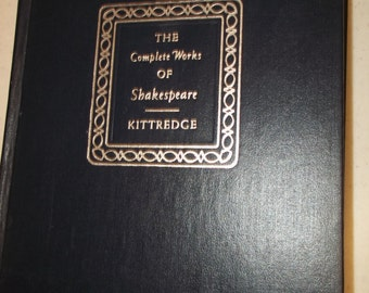 The Complete Works of William Shakespeare Book Kittredge 1958 Players Edition