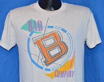 1986-87 Bad Company Fame & Fortune Tour White Vintage t-shirt Medium