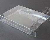 """A7 Clear Plastic Greeting Cards Boxes, Set of 25, 5-3/8"""" x 7-3/8"""" x 1/2"""""""