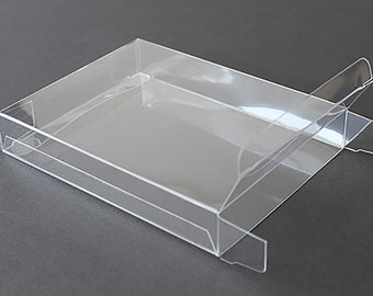 """A7 Clear Plastic Greeting Cards Boxes, Set of 25, 5-3/8"""" x 7-3/8"""", Choice of 4 Different Depths"""