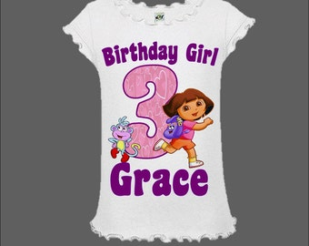 Dora Birthday Shirt - Dora the Explorer Shirt