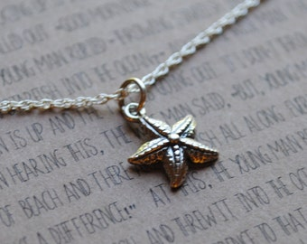 the starfish necklace  .  teacher gift necklace  .  graduation necklace gift  .  you made a difference  .  inspirational jewelry