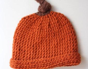 Pumpkin Crochet Hat - Multiple Sizes Available