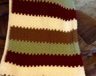 Leaping Stripe Crochet Afghan