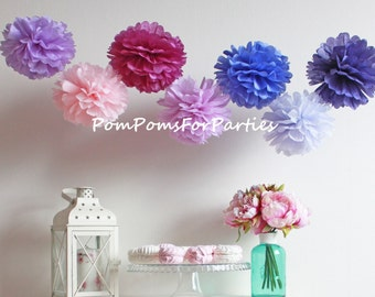 10 High Quality LARGE Size Tissue Paper Pom Poms Baby shower decorations - Family Photoshoots - Kids Party - Theme Party - Outside Party
