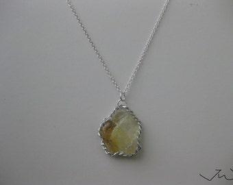 Yellow Citrine Quartz Necklace