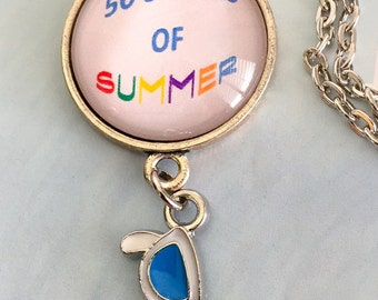 50 shades of summer necklace