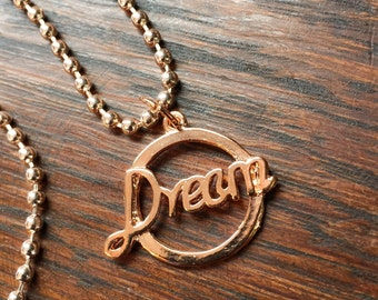 Dream charm necklace rose gold tone