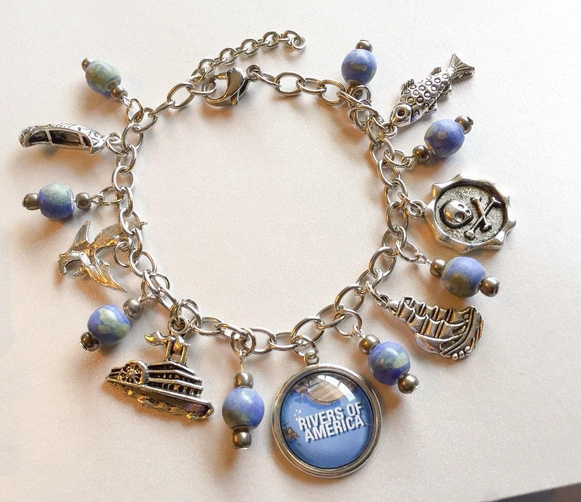 disneyland rivers of america charm bracelet disneyland