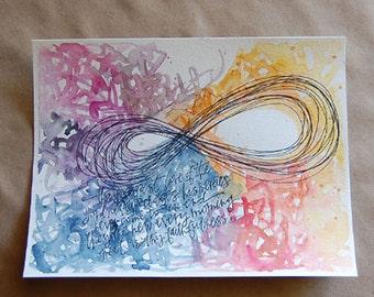 """illustration + painting print """"steadfast love"""""""
