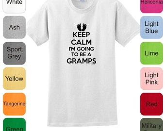 Keep Calm I'm Going To Be A Gramps T-Shirt 2000 - KC-109