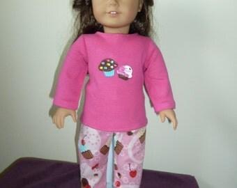 American Girl Doll Two piece Pajama Pattern