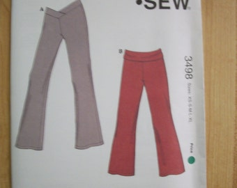 Kwik Sew 3498 Girls (Size XS (4-5) S (6) M (7-8) L (10) XL (12-14) pants