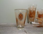 Set of Seven Mid Century Modern Drinking Glasses, Set of Vintage Tumblers, Mid Century Glassware, Modern Kitchenware