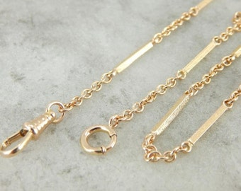 Vintage 10k Yellow Gold Pocket Watch Chain 2ACTQR-D