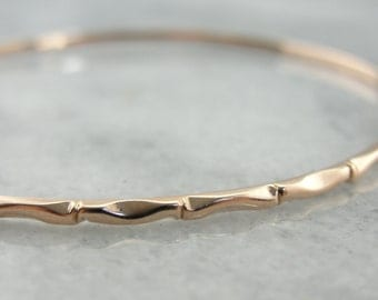 Patterned Rose Gold Bangle Bracelet NELMTN-P