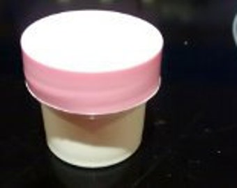 1/4 oz White Wall Jars with Pink Lined Top