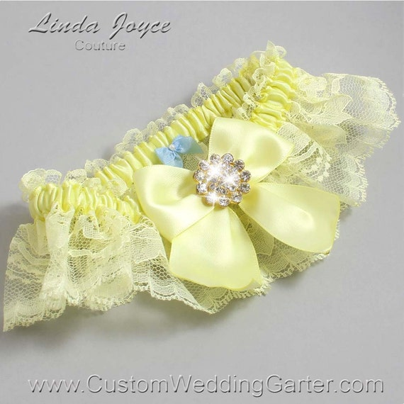 Items Similar To Light Yellow Wedding Garters Bridal